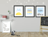Uplifting Quote Set of Four Quote Prints.  Fine Art Paper, Laminated, or Framed. Multiple Sizes Available for Home, Office, or School.