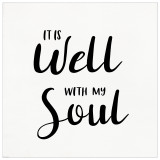 It Is Well With My Soul Spiritual and Inspirational Bible Verse Print. Fine Art Paper, Laminated, or Framed. Multiple Sizes