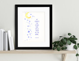 Calls them by Name Spiritual and Inspirational Bible Quote Print. Fine Art Paper, Laminated, or Framed. Multiple Sizes