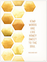 Kind Words Spiritual Inspirational Bible Quote Print. Fine Art Paper, Laminated, or Framed. Multiple Sizes