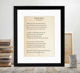 Robert Frost Into My Own Book Page Style Literary Quote Print. Fine Art Paper, Laminated, or Framed. Multiple Sizes Available