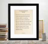 Macbeth Out Out Brief Candle Shakespeare Book Page Style Literary Quote Print. Fine Art Paper, Laminated, or Framed. Multiple Sizes