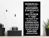 WVU Mountaineer Subway Sign. Fine Art Print or Canvas