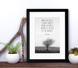 When One Tugs John Muir Nature Inspirational Quote Print. Fine Art Paper, Laminated or Framed. Multiple Sizes.