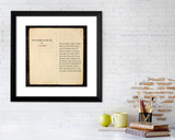 Catcher in the Rye J.D. Salinger Literary Quote Print. Fine Art Paper, Laminated or Framed.