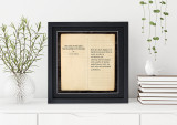 The Lord of the Rings - J.R.R. Tolkien, Opening Line Children's Literary Quote Print. Fine Art Paper, Laminated, or Framed. Multiple Sizes Available for Home, Office, or School.