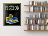 Fiction Books Customizable Library Print. Choose Fine Art Paper, Laminated, or Framed. Multiple Sizes Available