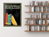 Nonfiction Books Customizable Library Print. Choose Fine Art Paper, Laminated, or Framed. Multiple Sizes Available