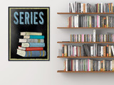 Book Series Customizable Library Print. Choose Fine Art Paper, Laminated, or Framed. Multiple Sizes Available