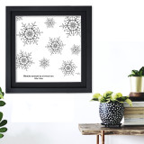 Willa Cather Snowflake Literary Quote Print. Fine Art Paper, Laminated, Framed or Canvas with Hanger. Multiple Sizes