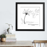 Astrid Lindgren Dandelion Literary Quote Print. Fine Art Paper, Laminated, or Framed. Multiple Sizes