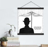 Ralph Waldo Emerson Literary Quote Print. Fine Art Canvas with Hanger.