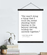 Holding The Universe Together J.D. Salinger Author Signature Literary Quote Canvas Art Print w/ Hanger for Home, Classroom, or Library