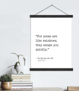 Poems Are Like Rainbows Langston Hughes Author Signature Literary Quote Canvas Art Print w/ Hanger for Home, Classroom, or Library