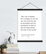 Oscar Wilde Yes I am a Dreamer Author Signature Literary Quote  Canvas Art Print w/ Hanger for Home, Classroom, or Library