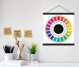 Vintage Color Wheel  Print w/ Hanger for Art Studio, Classroom, or Home.