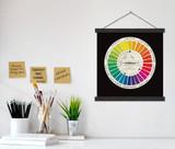 Vintage Color Wheel Version 3 Print w/ Hanger for Art Studio, Classroom, or Home.