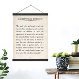 Ralph Waldo Emerson Vintage Book Page Literary Quote Canvas Art Print w/Hanger for Home, Classroom or Library