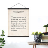 Ernest Hemingway Vintage Book Page Literary Quote Canvas Art Print w/Hanger for Home, Classroom or Library