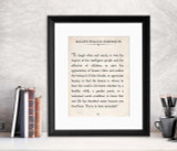 Ralph Waldo Emerson Vintage Book Page Literary Quote Print. Fine Art Paper, Laminated, or Framed. Multiple Sizes for Home, Office, or School