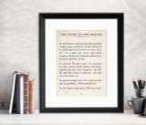 The Story of Two Wolves Vintage Book Page Literary Quote Print. Fine Art Paper, Laminated, or Framed. Multiple Sizes for Home, Office, or School