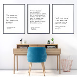 Poetic Literary Signature Quotes Set of 3. Hughes, Poe, and Whitman. Fine Art Paper, Laminated, or Framed. Multiple Sizes for Home, Office, or School