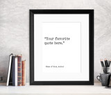 Custom Typewriter Style Book Page Print. Fine Art Paper, Laminated, or Framed. Multiple Sizes for Home, Office, or School