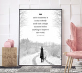 Anne Frank Improve the World Inspirational Quote Print. Fine Art Paper, Laminated, or Framed. Multiple Sizes.