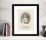 Jane Austen Excellent Library Quote Fine Art Print. Multiple Sizes and Styles for Library, Home, Office, or School