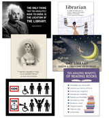 Library Themed Quote Art Prints Featuring Quotes From Jane Austen, Albert Einstein, and More. Multiple Sizes and Styles Available For Library, Office, or Home