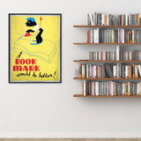 Book Mark Literary Print. Fine Art Paper, Laminated, or Framed. Multiple Sizes for Library, Home, Office, or School