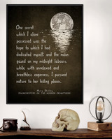 Frankenstein Mary Shelley Literary Quote Print. Vintage Style. Fine Art Paper, Laminated, or Framed. Available in Multiple Sizes.