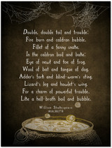 William Shakespeare Macbeth Literary Quote Print. Vintage Style. Fine Art Paper, Laminated, or Framed. Print Available in Multiple Sizes.