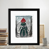 Flatwoods Monster Watercolor Style Fine Art Paper, Laminated, or Framed. Multiple Sizes for Home, Office, or School. West Virginia Folk Art