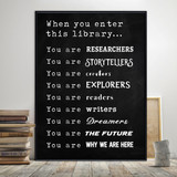When You Enter This Library Print. Plain Paper, Laminated, or Framed. Multiple Sizes Available