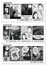 Poe, Thoreau, and Hawthorne Living Dead Authors Set Comic Style Spelling and Usage Grammar Prints.