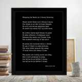 Stopping By Woods on a Snowy Evening - Robert Frost Quote Print. Fine Art Paper, Laminated, or Framed. Multiple Sizes Available