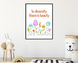 Diversity and Inclusivity Art Print Set. Posters available Matte Paper, Laminated or Framed. Multiple Sizes