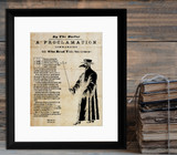 Pandemic Proclamation. Vintage Style Art Print. Matte Paper, Laminated or Framed. Multiple Sizes
