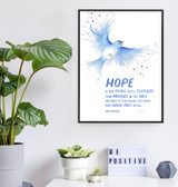 Hope is the Thing with Feathers. Emily Dickinson Quote Art Print. Matte Paper, Laminated or Framed. Multiple Sizes