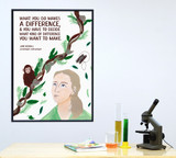 Jane Goodall Women Science STEM Art Print. Matte Paper, Laminated or Framed. Multiple Sizes