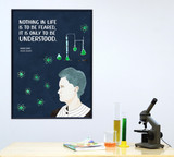Marie Curie Women in Science STEM Art Print. Matte Paper, Laminated or Framed. Multiple Sizes