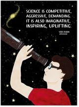 Vera Rubin Astronomy Women in Science STEM  Art Print. Matte Paper, Laminated or Framed. Multiple Sizes