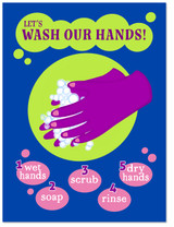 Wash Our Hands. Classroom Covid-19 Safety Poster. Matte Art Paper, Laminated or Framed. Multiple Sizes