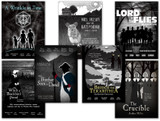 YA Literary Classics Poster Set. Movie-style posters. Fine Art Paper, Laminated, or Framed. Multiple Sizes Available for Home, Office, or School.