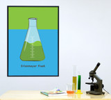 Erlenmeyer Flask Science STEM Poster. Vibrant Scientific Instruments Art Print. Matte Paper, Laminated or Framed. Multiple Sizes