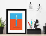 Graduated Cylinder Science STEM Poster. Vibrant Scientific Instruments Art Print. Matte Paper, Laminated or Framed. Multiple Sizes