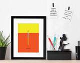 Pipette Science STEM Poster. Vibrant Scientific Instruments Art Print. Matte Paper, Laminated or Framed. Multiple Sizes
