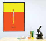 Pipette Science STEM Poster. Vibrant Scientific Instruments Art Print. Matte Paper, Laminated or Framed. Multiple Sizes