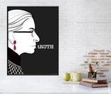 Ruth Bader Ginsburg  tRUTH Quote Art Print. Matte Paper, Laminated or Framed. Multiple Sizes
